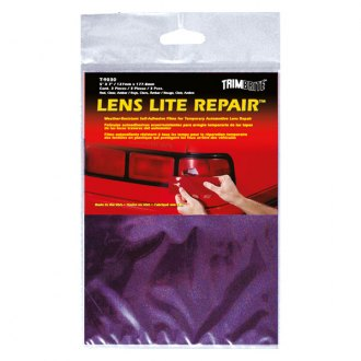 "Trimbrite® - 3 5"" x 7"" Red/Amber/Clear Multi Purpose Tape Lens Lite Repair™ Self Adhesive Sheet Set"