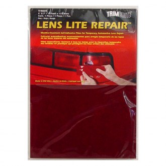 "Trimbrite® - 6"" x 7"" Red Multi Purpose Tape Lens Lite Repair™ Self Adhesive Sheet"