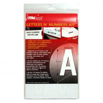 Trimbrite® - Letters and Numbers Decals Set