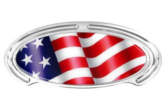 Truck Covers USA® - American Spring Step - Oval Artwork American Flag