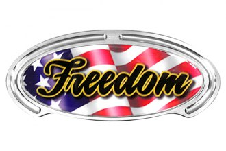Truck Covers USA® - American Spring Step - Oval Artwork Freedom Flag