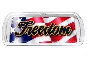 Image may not reflect your exact vehicle!Truck Covers USA® - American Spring Step - Rectangular Artwork Freedom Flag