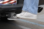 Truck Covers USA® - American Spring Step in Use