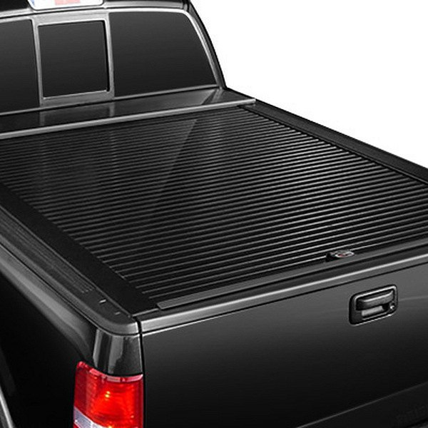 Truck Covers USA® - American Roll Black Tonneau Cover, Closed
