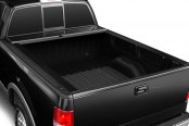 Image may not reflect your exact vehicle!Truck Covers USA® - American Roll Black Tonneau Cover, Open