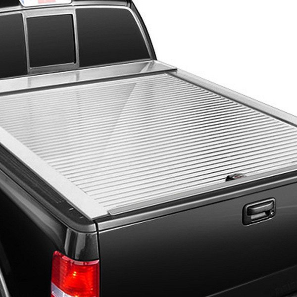 Image may not reflect your exact vehicle!Truck Covers USA® - American Roll White Tonneau Cover, Closed