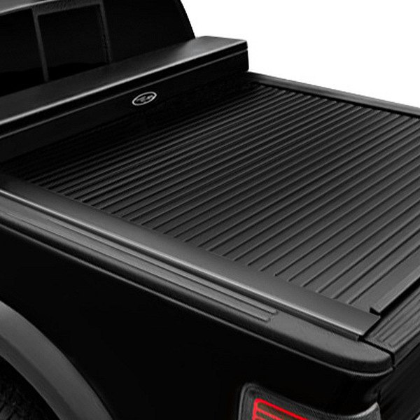 Image may not reflect your exact vehicle!Truck Covers USA® - American Work Jr. Black Tonneau Cover, Closed