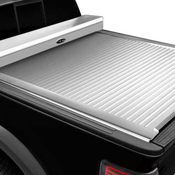 Image may not reflect your exact vehicle!Truck Covers USA® - American Work Jr. White Tonneau Cover, Closed