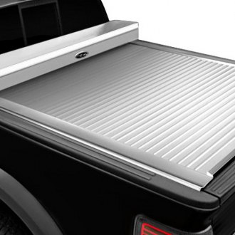 Truck Covers USA® - American Work Jr. Tool Box Retractable Tonneau Cover