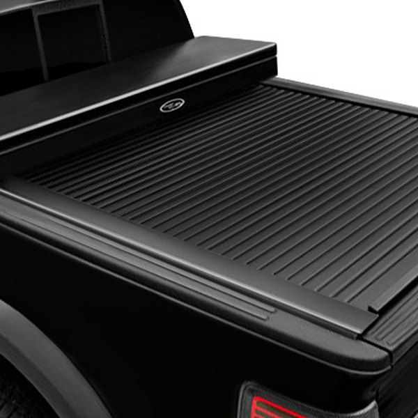 Image may not reflect your exact vehicle!Truck Covers USA® - American Work Black Tonneau Cover, Closed