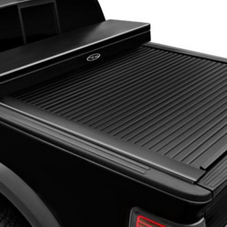 Truck Covers USA® - White American Work Tonneau Cover, Closed