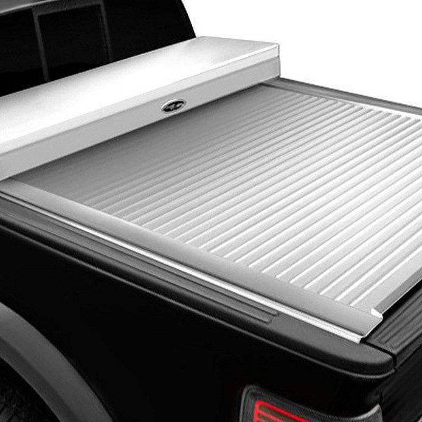 Image may not reflect your exact vehicle!Truck Covers USA® - American Work White Tonneau Cover, Closed