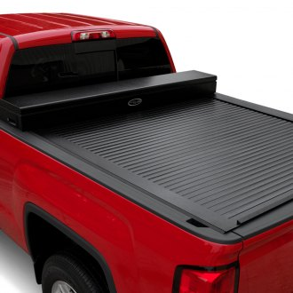 Truck Covers USA® - American X-Box Work Jr. Retractable Tonneau Cover Tool Box
