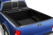 Image may not reflect your exact vehicle! Truck Covers USA® - Retractable American Roll Tonneau Cover, Open