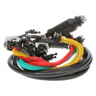 "Truck-Lite® - 88 Series 55"" Rear 15 Plug License and Stop/Turn/Tail Wiring Harness with Stop/Turn/Tail and Marker/Clearance and Auxiliary and Tail Breakout"