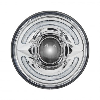 "TRUX® - 5 3/4"" Round Chrome Halo Projector LED Headlight"