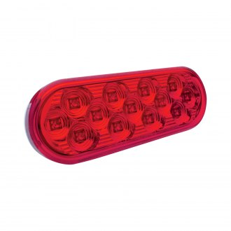 "TRUX® - 6.5""x2"" Oval Red LED Turn Signal Light"