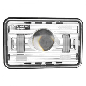 "TRUX® - 4x6"" Rectangular Chrome Projector LED Headlight"