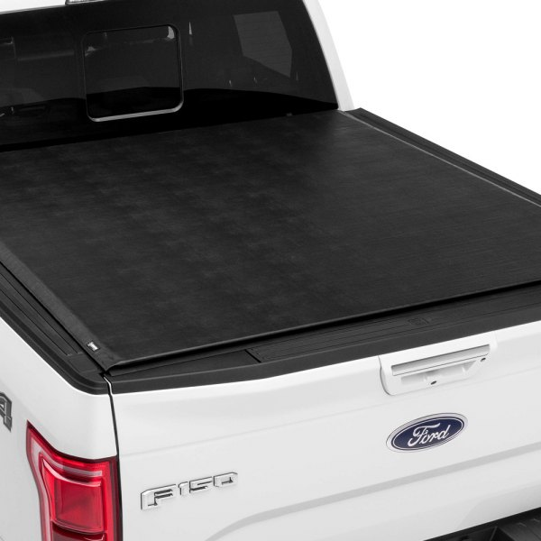 Image may not reflect your exact vehicle! TruXedo® - Titanium Hard Rolling Tonneau Cover, Closed