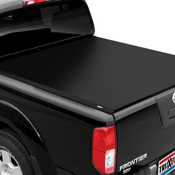 Image may not reflect your exact vehicle! TruXedo® - Deuce Hinged Roll-Up Tonneau Cover, Closed