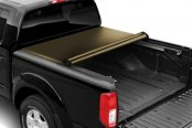Image may not reflect your exact vehicle! TruXedo® - Deuce Hinged Roll-Up Tonneau Cover, Mid Open