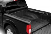 Image may not reflect your exact vehicle! TruXedo® - Deuce Hinged Roll-Up Tonneau Cover, Open