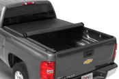 TruXedo® - Lo Pro QT Harley-Davidson Edition Roll-Up Tonneau Cover, Mid Open