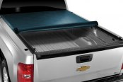Image may not reflect your exact vehicle! TruXedo® - Lo Pro QT™ Roll-Up Tonneau Cover, Mid Open