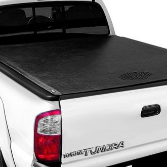 Image may not reflect your exact vehicle! TruXedo® - Lo Pro QT™ Harley-Davidson Edition Roll-Up Tonneau Cover, Closed