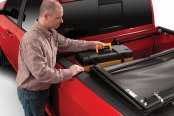 TruXedo® - Deuce Hinged Roll-Up Tonneau Cover, Quick Cargo Access