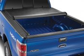 Image may not reflect your exact vehicle! TruXedo® - Edge Roll-Up Tonneau Cover, Mid Open