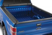 Image may not reflect your exact vehicle! TruXedo® - Edge Roll-Up Tonneau Cover, Open