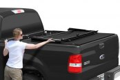 Image may not reflect your exact vehicle! TruXedo® - Deuce Hinged Roll-Up Tonneau Cover, Front Hinged Section
