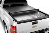 Image may not reflect your exact vehicle! TruXedo® - Lo Pro QT Roll-Up Tonneau Cover, Mid Open