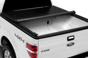 Image may not reflect your exact vehicle! TruXedo® - Roll-Up Tonneau Cover, Mid Open