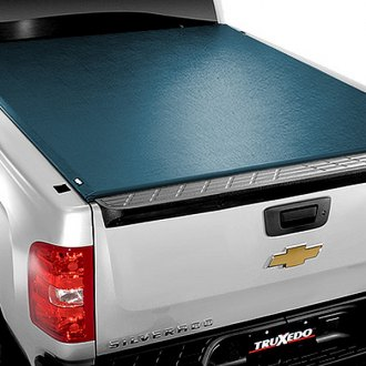 Image may not reflect your exact vehicle! TruXedo® - TonneauTraX™ Roll-Up Tonneau Cover, Closed