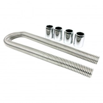 "TSP® - Stainless Steel 48"" Polished Flexible Radiator Hose Kit"