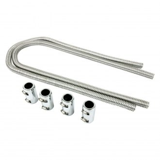 "TSP® - Stainless Steel 44"" Polished Flexible Heater Hose Kit"