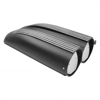 TSP® - Black Finned Air Cleaner and Hood Scoop Kit