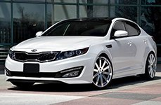 TSW® - BROOKLANDS Silver with Mirror Cut Face on Kia Optima