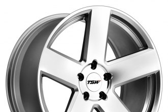 "TSW® - BRISTOL Silver with Mirror Cut Face (18"" x 8.5"", +40 Offset, 5x114.3 Bolt Pattern, 76mm Hub)"