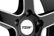 TSW® - CARTHAGE Gloss Black with Mirror Cut Lip and Milled Spokes Close-Up