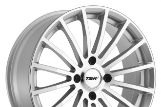 "TSW® - MALLORY Silver with Mirror Cut Face (17"" x 7"", +40 Offset, 4x100 Bolt Pattern, 100mm Hub)"