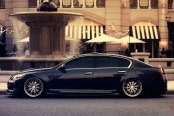 TSW® - MONACO Silver with Brushed Face and SS Lip on Lexus GS