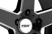 TSW® - RIVAGE Gloss Black with Milled Spokes Close-Up
