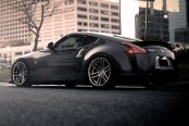 TSW® - ROUEN Silver with Brushed Face and SS Lip on Nissan 370Z