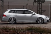 TSW® - ROUEN Silver with Brushed Face and SS Lip on Volkswagen Jetta