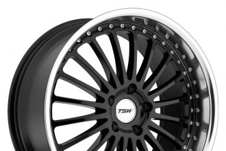 "TSW® - SILVERSTONE Gloss Black with Mirror Cut Lip (19"" x 8"", +40 Offset, 5x114.3 Bolt Pattern, 76.1mm Hub)"