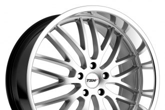 "TSW® - SNETTERTON Hyper Silver with Mirror Cut Lip (17"" x 8"", +20 Offset, 5x114.3 Bolt Pattern, 76.1mm Hub)"