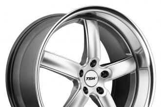 "TSW® - STOWE Hyper Silver with Mirror Cut Lip (19"" x 8"", +45 Offset, 5x112 Bolt Pattern, 100mm Hub)"